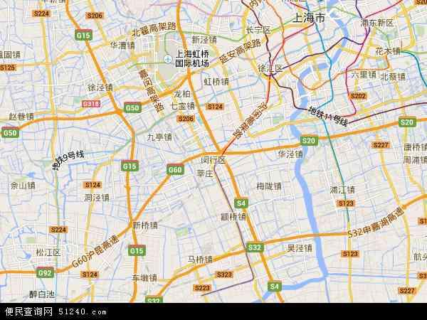 中国上海市闵行区地图(卫星地图)