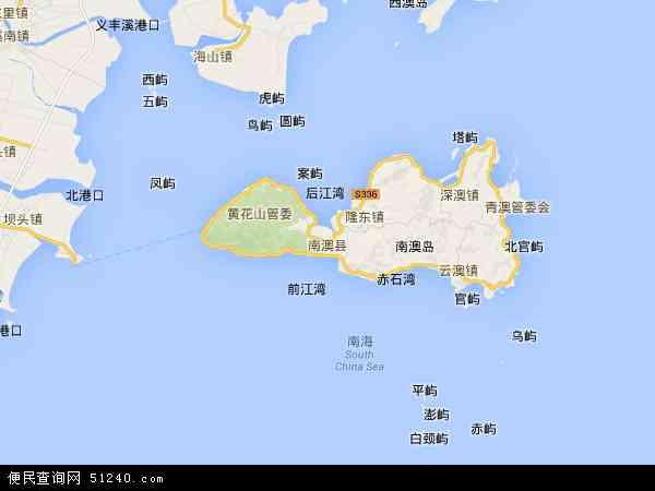 最新南澳县地图,2016南澳县地图高清版