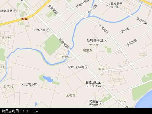 中国辽宁省沈阳市于洪区南阳湖地图(卫星地图)