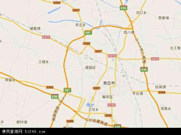 中国河南省商丘市梁园区平安地图(卫星地图)图片