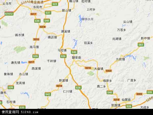 磐安县地图 - 磐安县卫星地图