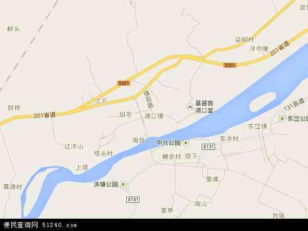 中国福建省福州市连江县浦口镇地图(卫星地图)