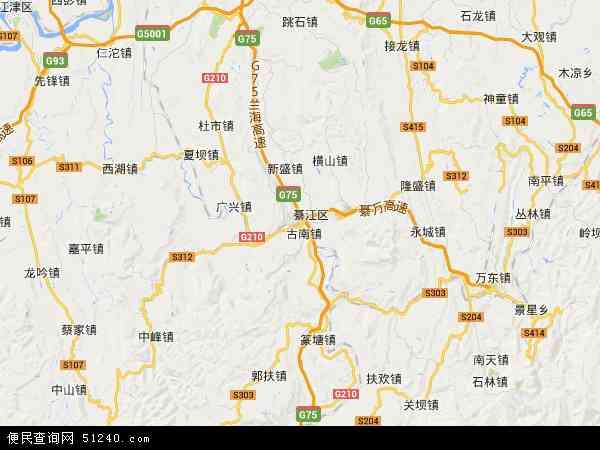 綦江区地图 - 綦江区卫星地图