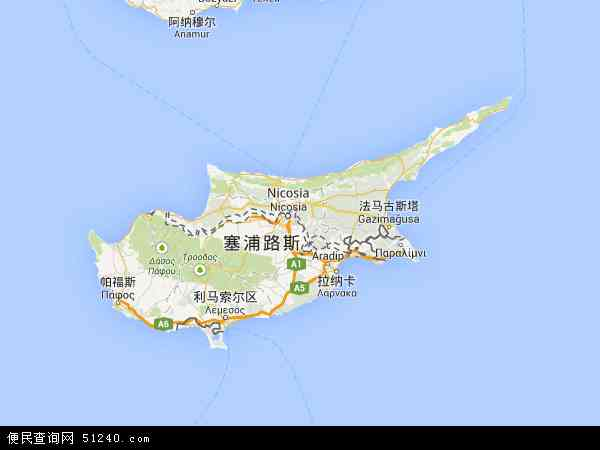 塞浦路斯地图 - 塞浦路斯电子地图 - 塞浦路斯高清地图 - 2016年塞浦路斯地图