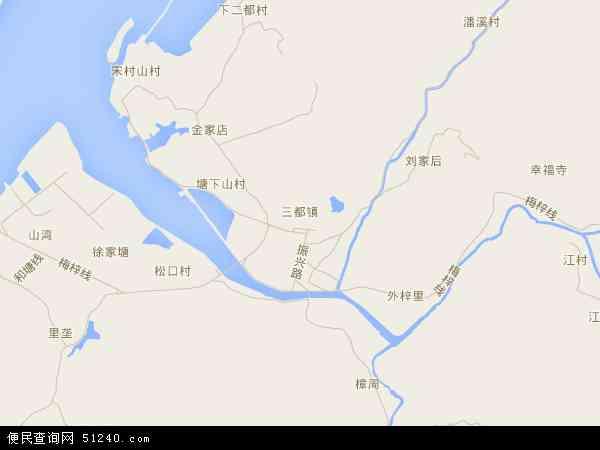 三都镇地图 - 三都镇卫星地图