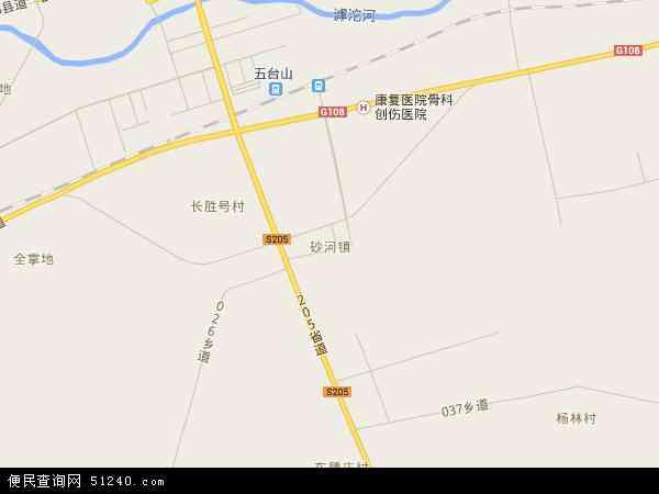 中国山西省忻州市繁峙县砂河镇地图(卫星地图)