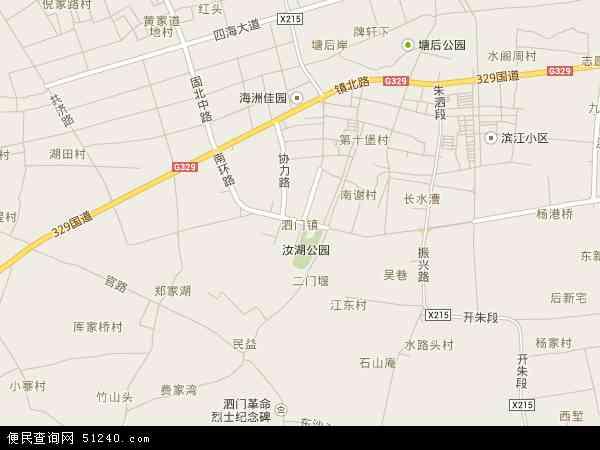 中国浙江省宁波市余姚市泗门镇地图(卫星地图)