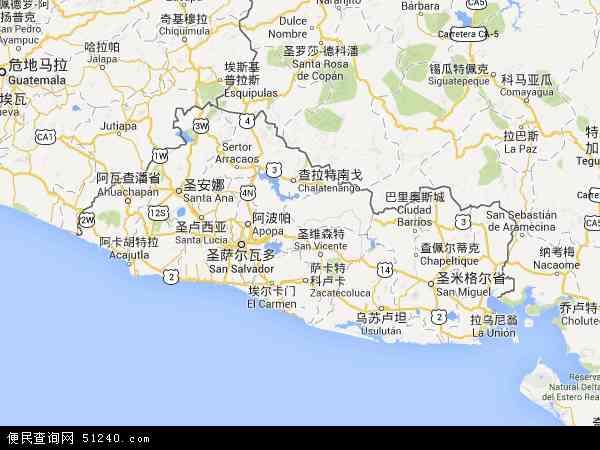 萨尔瓦多地图 - 萨尔瓦多电子地图 - 萨尔瓦多高清地图 - 2016年萨尔瓦多地图