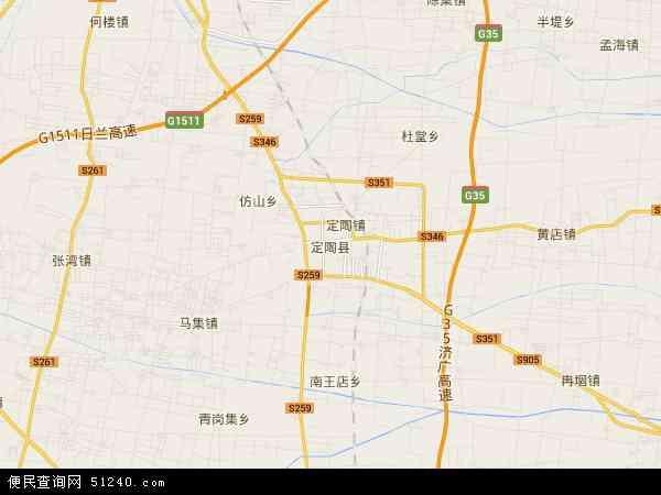 中国山东省菏泽市定陶县天中地图(卫星地图)