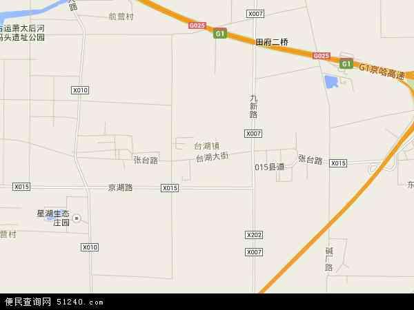 台湖镇地图 - 台湖镇卫星地图
