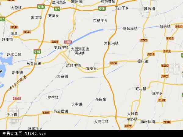文安县地图 - 文安县卫星地图