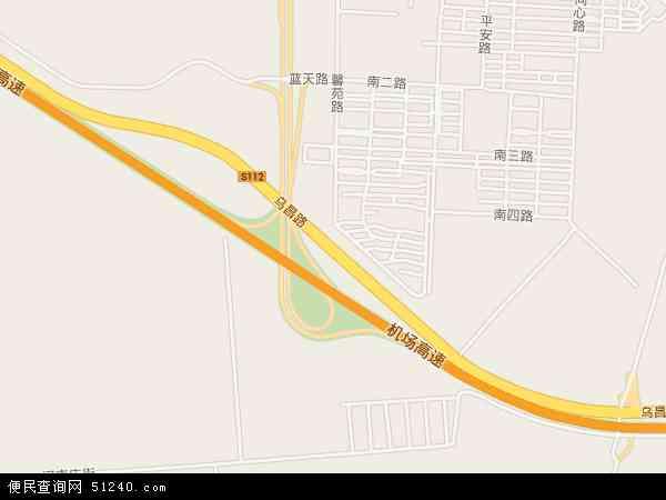 中国新疆维吾尔自治区乌鲁木齐市头屯河区乌昌路地图