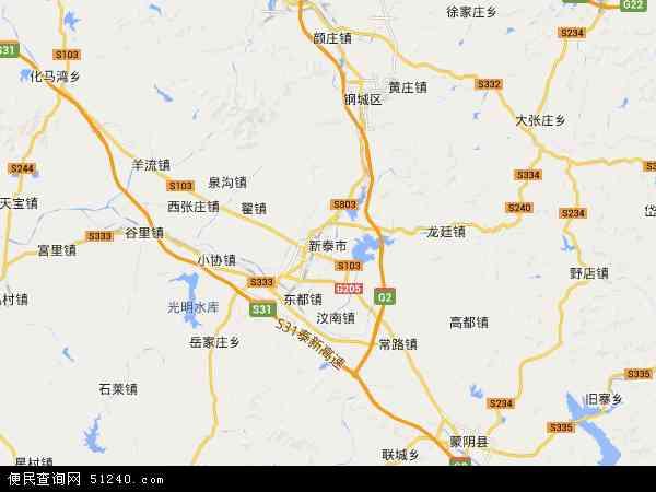 新泰市地图 - 新泰市卫星地图