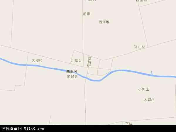 中国江苏省连云港市海州区新坝镇地图(卫星地图)