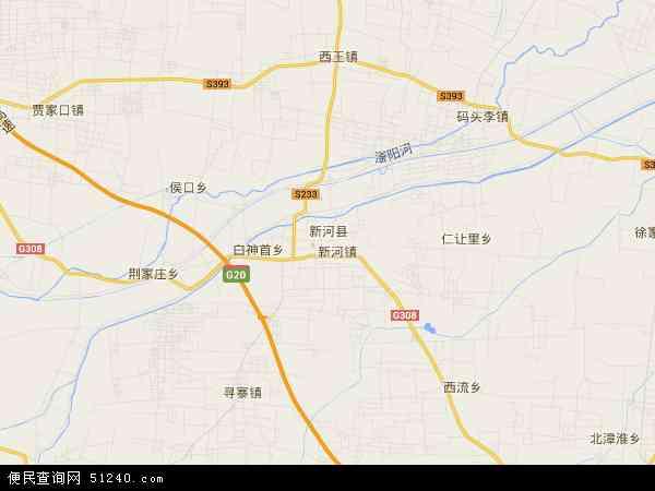 中国河北省邢台市新河县地图(卫星地图)
