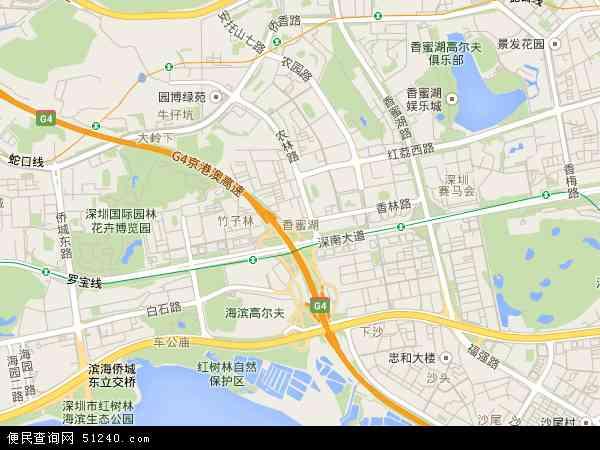 香蜜湖地图 - 香蜜湖卫星地图 - 香蜜湖高清航拍
