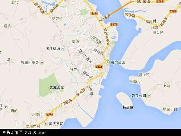 中国广东省湛江市霞山区地图(卫星地图)