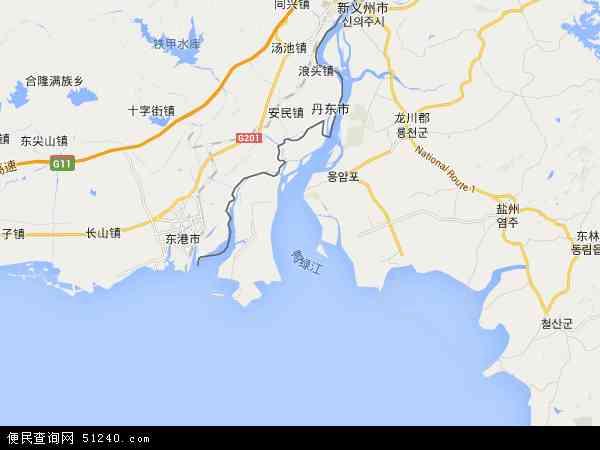 博茨瓦纳地图_鸭绿江地图 - 鸭绿江卫星地图 - 鸭绿江高清航拍地图