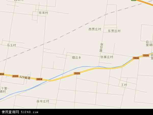 中国山东省聊城市冠县烟庄地图(卫星地图)
