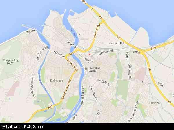 因弗内斯地图 因弗内斯卫星地图 因弗内斯高清航拍地图 因弗内斯高清卫星地图 因弗内斯2017年卫星地图 英国苏格兰因弗内斯地图