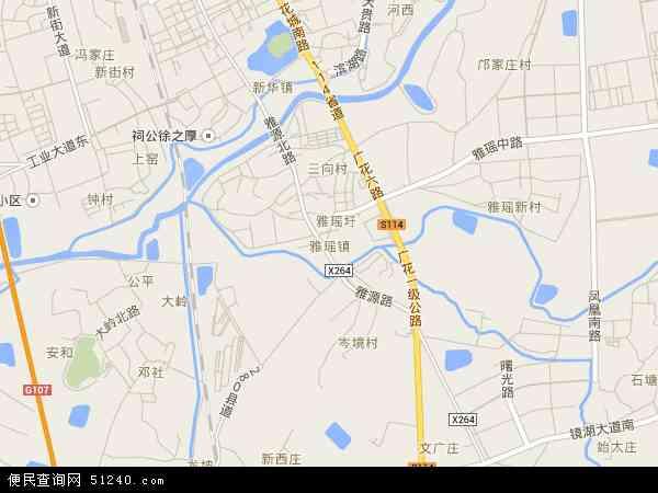 雅瑶镇地图 - 雅瑶镇卫星地图