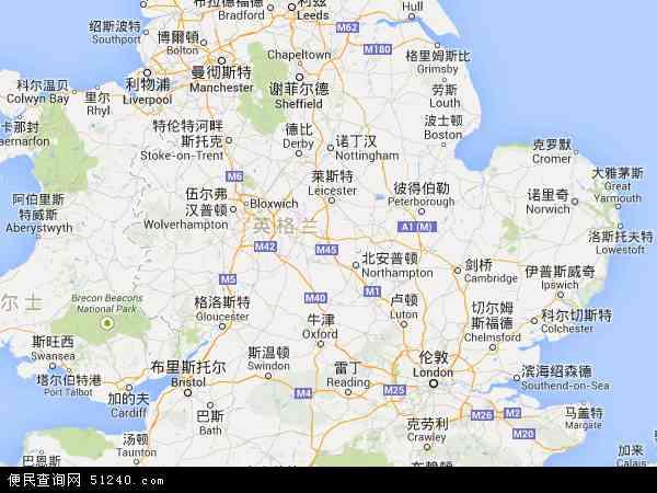 英格兰地图 - 英格兰卫星地图