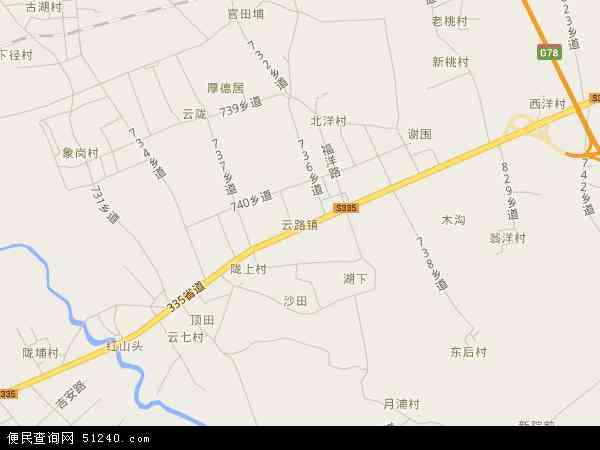 中国广东省揭阳市揭东区云路镇地图(卫星地图)