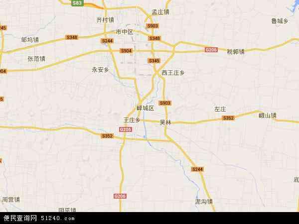 峄城区地图 - 峄城区卫星地图