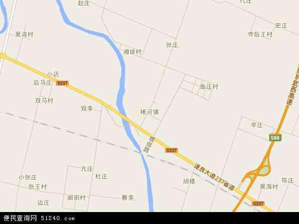 中国河南省许昌市禹州市褚河镇地图(卫星地图)