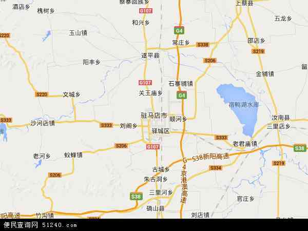 中国河南省驻马店市地图(卫星地图)