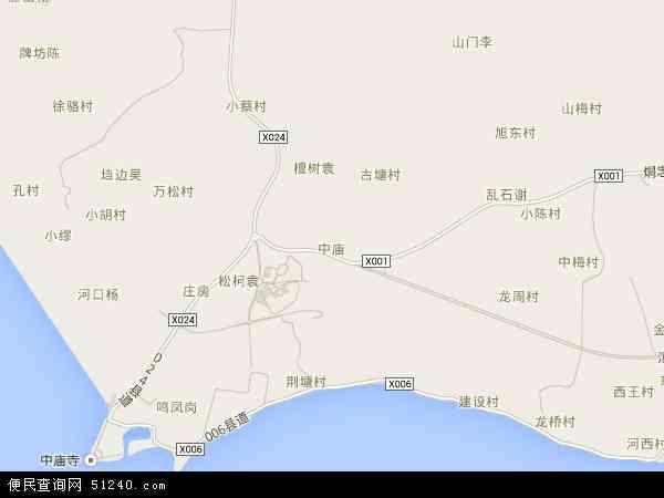 中庙姥山岛景区导览全景图