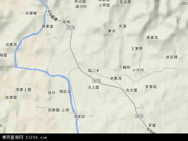 中国安徽省安庆市宿松县隘口乡地图(卫星地图)