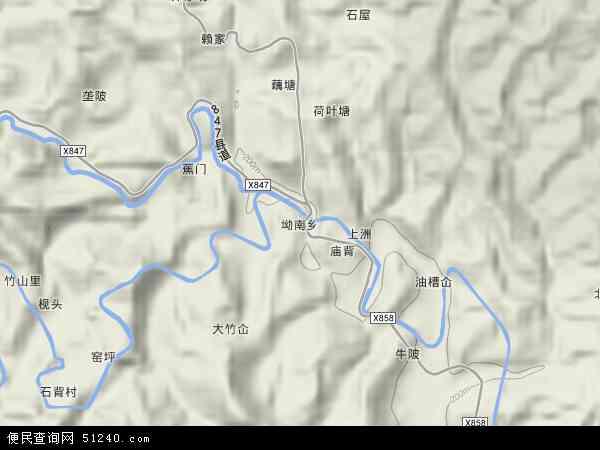 坳南乡地图 - 坳南乡卫星地图 - 坳南乡高清航拍地图