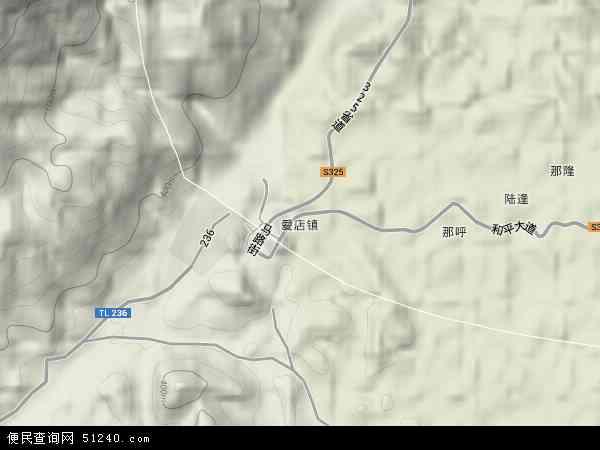 中国广西壮族自治区崇左市宁明县爱店镇地图