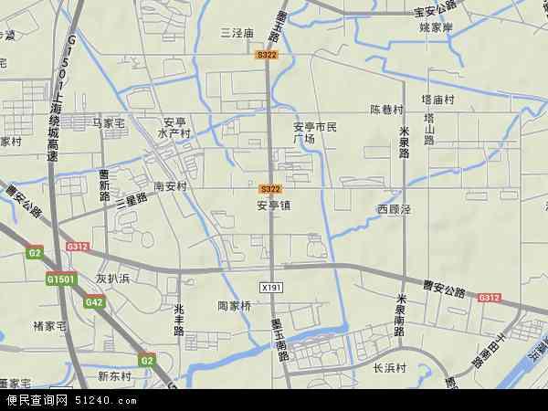 中国上海市嘉定区安亭镇地图(卫星地图)