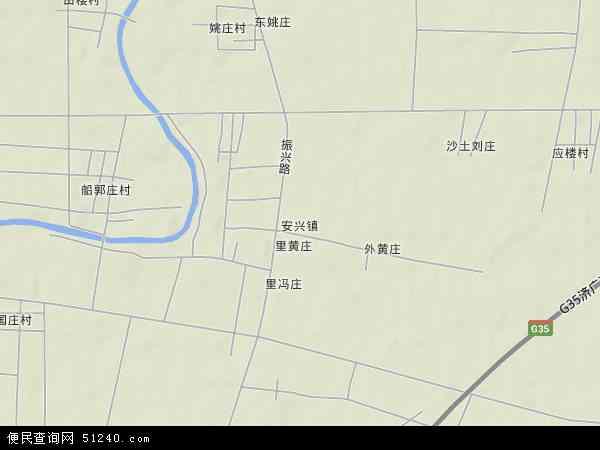 中国山东省菏泽市牡丹区安兴镇地图(卫星地图)