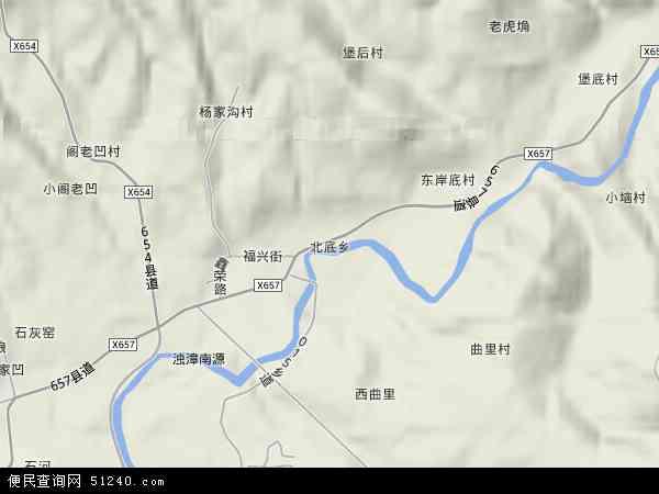 中国山西省长治市襄垣县北底乡地图(卫星地图)