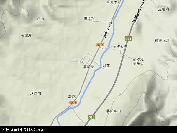 中国辽宁省朝阳市凌源市北炉乡地图(卫星地图)