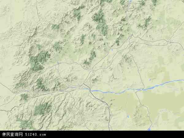 巴林右旗地图 - 巴林右旗卫星地图