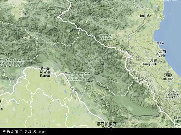 老挝波里坎赛地图(卫星地图)