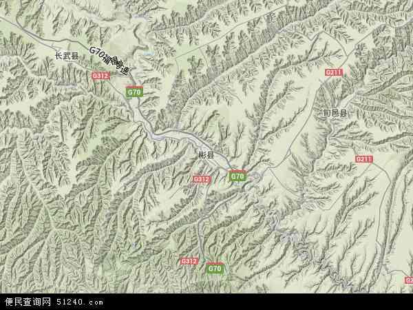 彬县地图 - 彬县卫星地图
