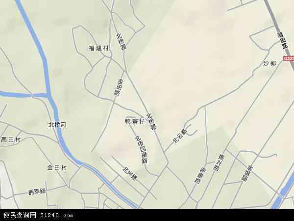 中国广东省湛江市赤坎区北桥地图(卫星地图)
