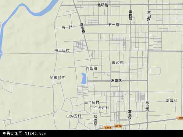 中国河北省保定市高碑店市白沟镇地图(卫星地图)