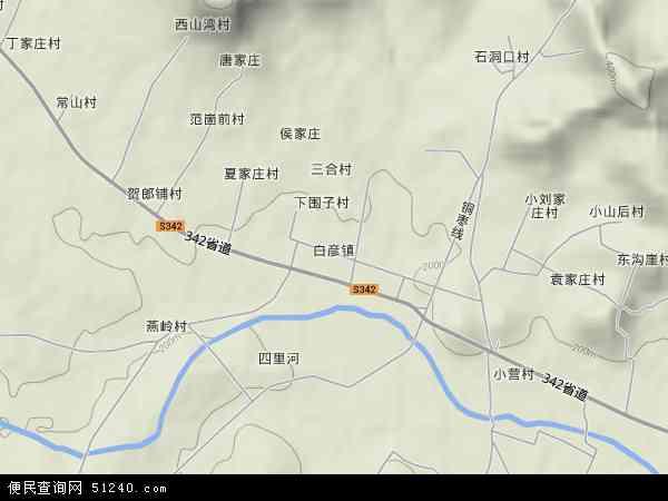 中国山东省临沂市平邑县白彦镇地图(卫星地图)