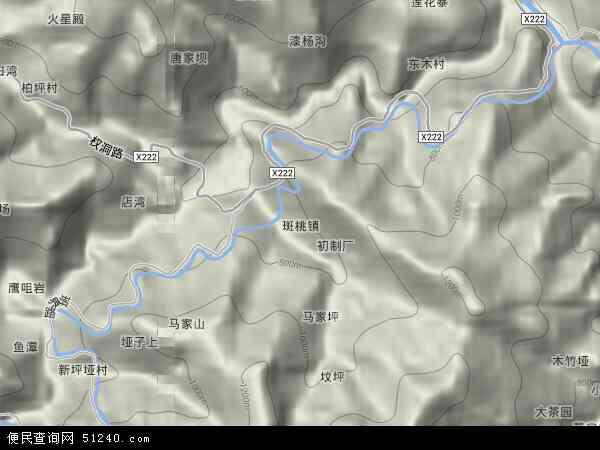 斑桃镇地图 - 斑桃镇卫星地图
