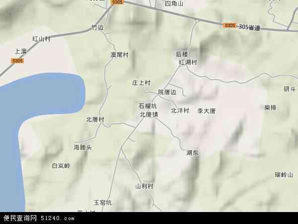 中国福建省福州市平潭县北厝镇地图(卫星地图)