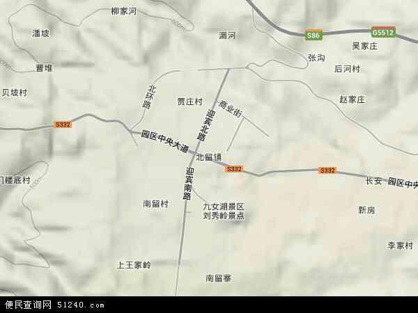 中国山西省晋城市阳城县北留镇地图(卫星地图)