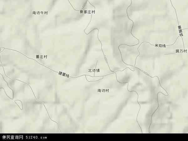 中国山西省晋城市高平市北诗镇地图(卫星地图)