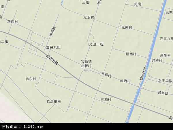 中国 江苏省 南通市 启东市 北新镇  本站收录有:2018北新镇卫星地图
