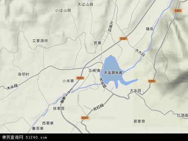 中国云南省昭通市昭阳区北闸镇地图(卫星地图)